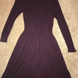American Eagle long sleeve ribbed plum dress